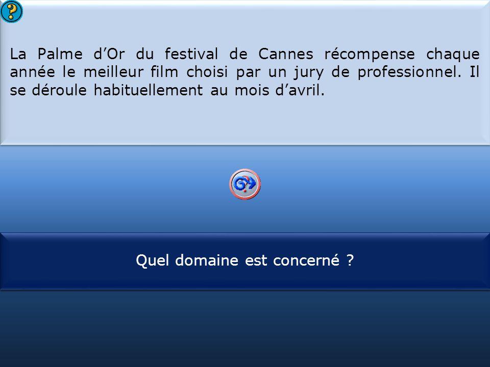 La Palme d'Or du festival de Cannes récompense chaque année le meilleur film choisi par un jury de professionnel. Il se déroule habituellement au mois d'avril.