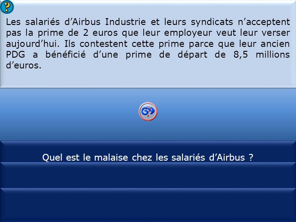 Quel est le malaise chez les salariés d'Airbus