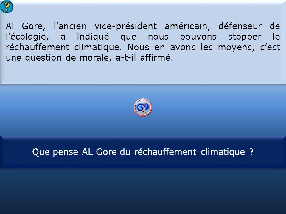 Que pense AL Gore du réchauffement climatique
