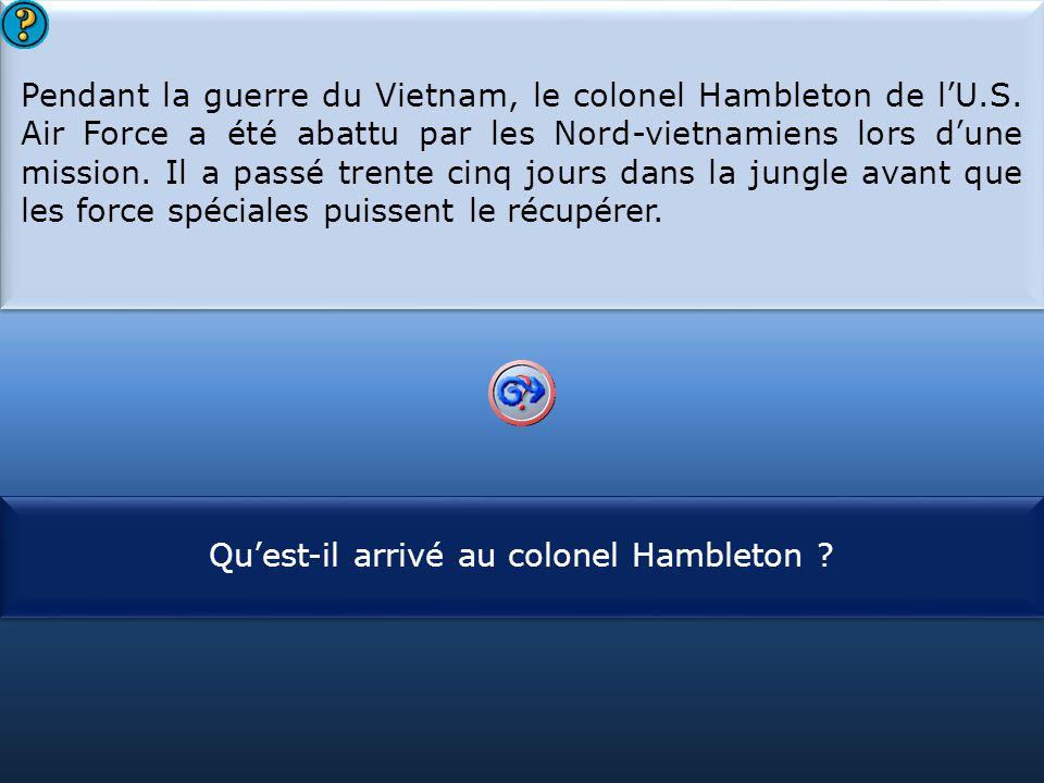 Qu'est-il arrivé au colonel Hambleton