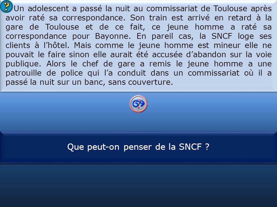 S1 Que peut-on penser de la SNCF