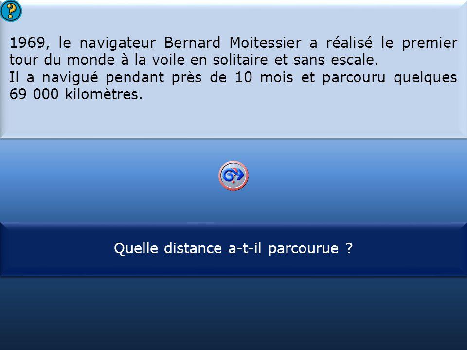 1969, le navigateur Bernard Moitessier a réalisé le premier tour du monde à la voile en solitaire et sans escale.