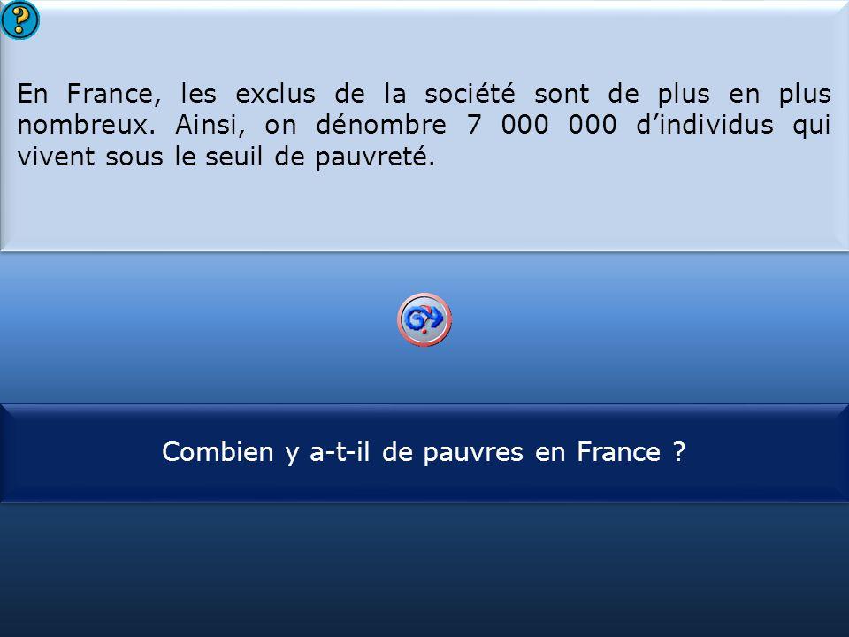 Combien y a-t-il de pauvres en France