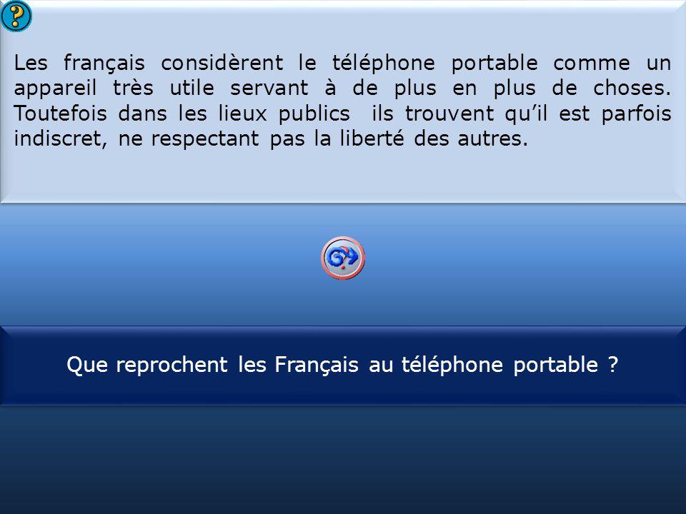 Que reprochent les Français au téléphone portable