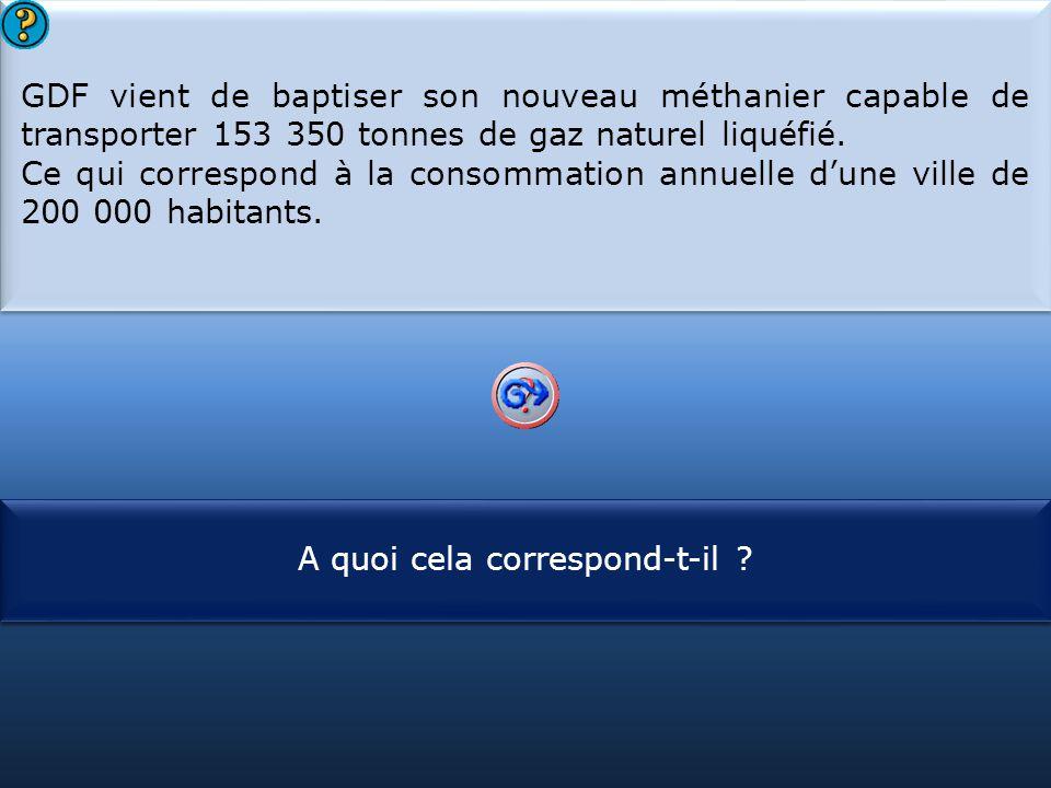 GDF vient de baptiser son nouveau méthanier capable de transporter 153 350 tonnes de gaz naturel liquéfié.