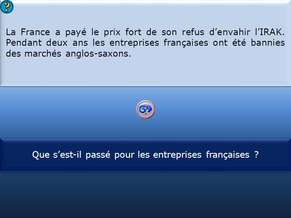 Que s'est-il passé pour les entreprises françaises