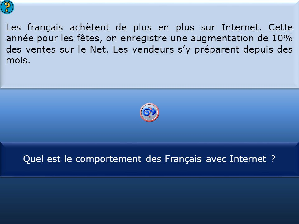Les français achètent de plus en plus sur Internet