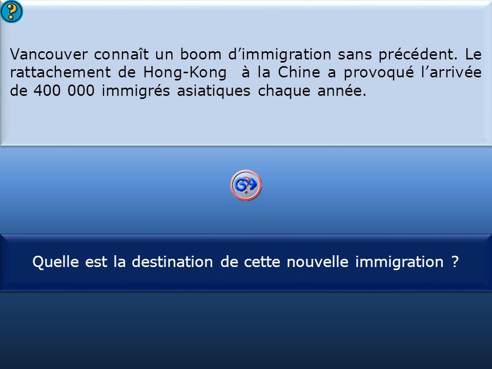 Vancouver connaît un boom d'immigration sans précédent