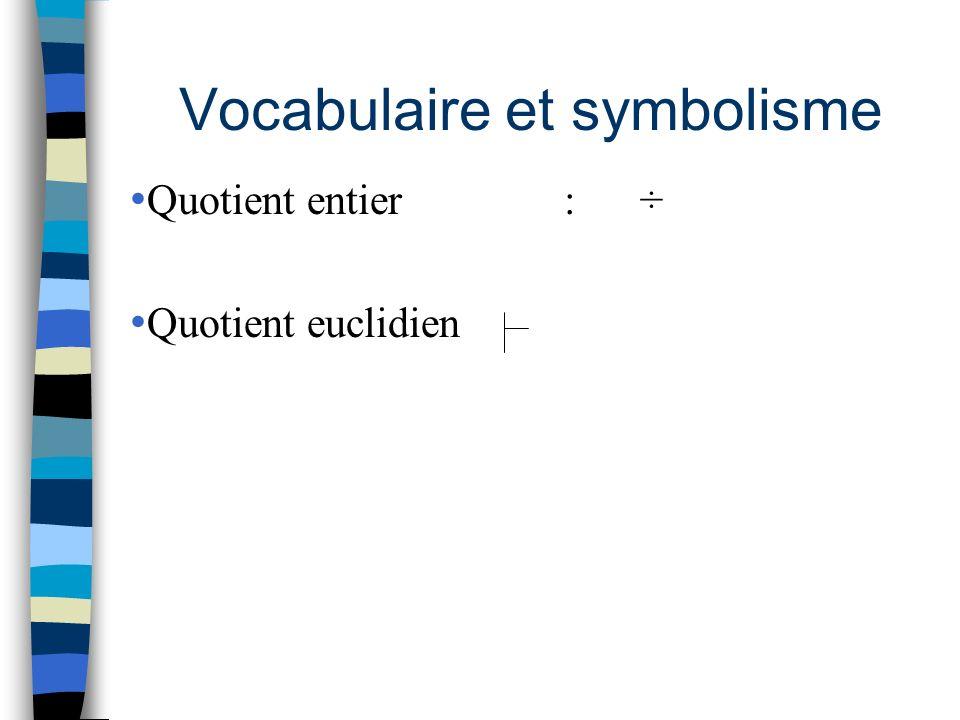Vocabulaire et symbolisme