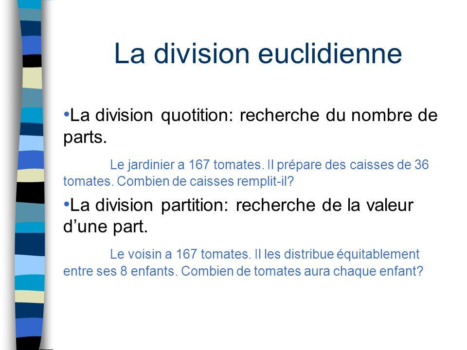 La division euclidienne