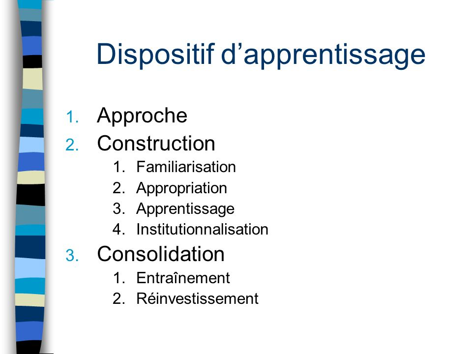 Dispositif d'apprentissage