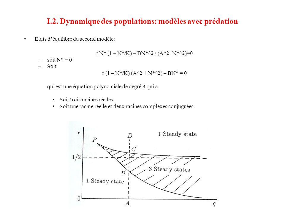 I.2. Dynamique des populations: modèles avec prédation