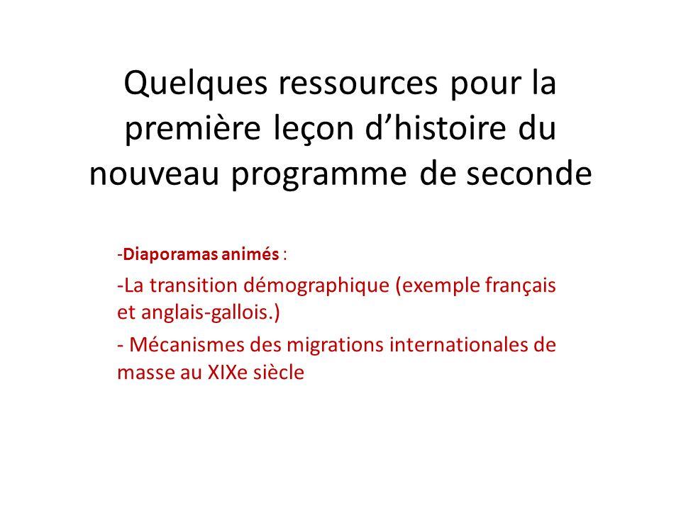 Quelques ressources pour la première leçon d'histoire du nouveau programme de seconde