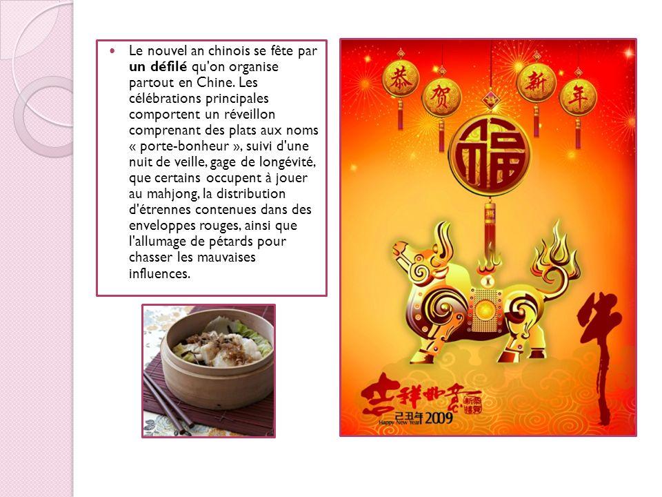 Le nouvel an chinois se fête par un défilé qu on organise partout en Chine.
