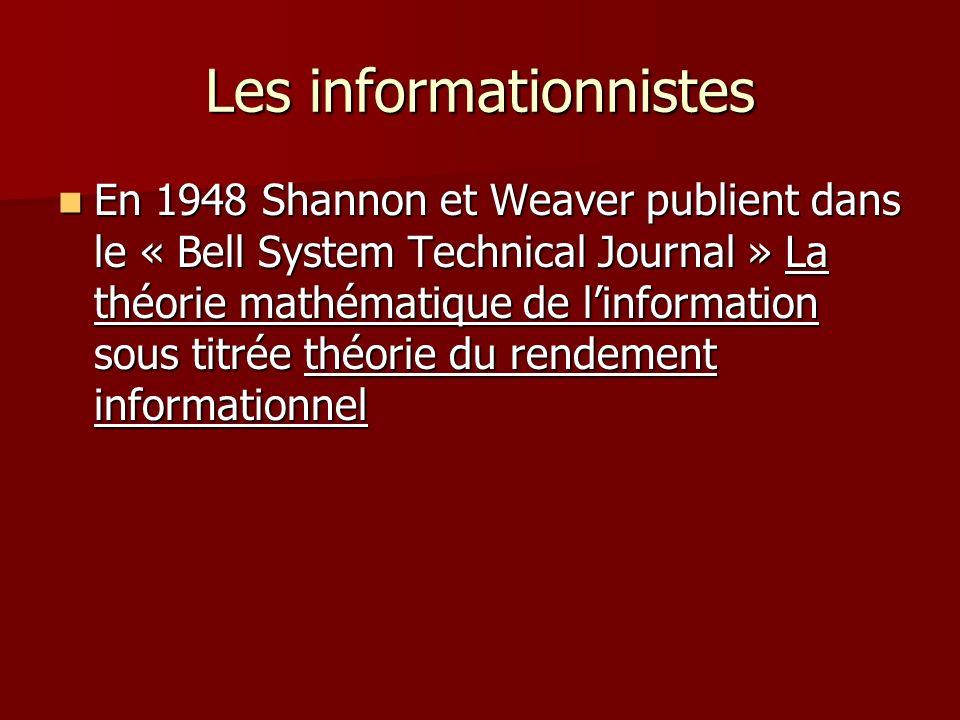 Les informationnistes
