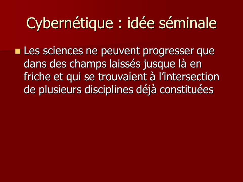 Cybernétique : idée séminale