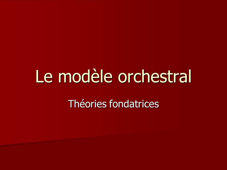 Le modèle orchestral Théories fondatrices