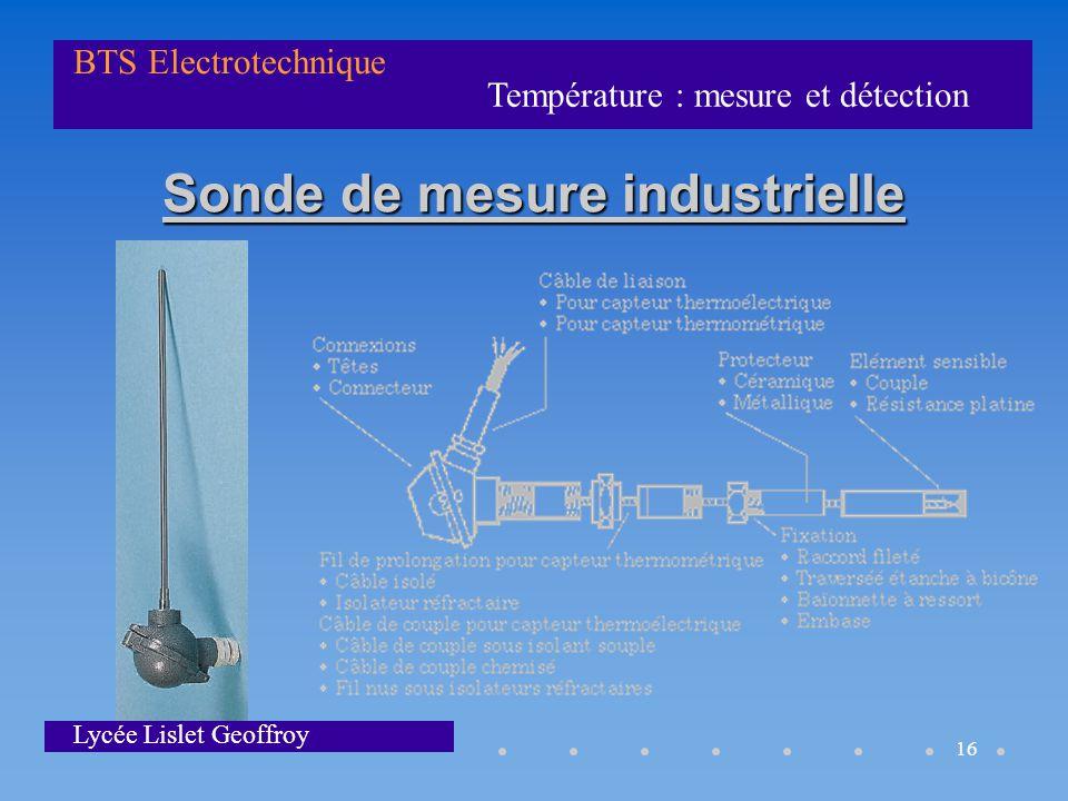 Sonde de mesure industrielle