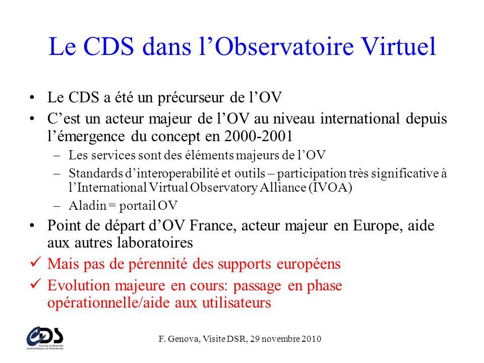 Le CDS dans l'Observatoire Virtuel