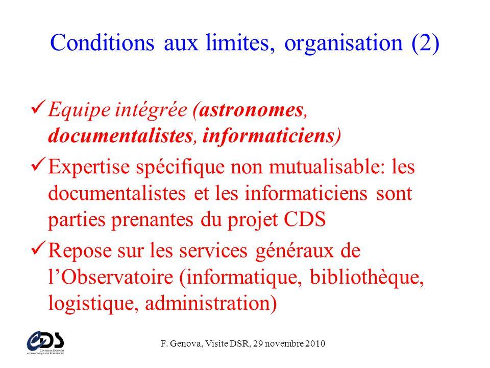 Conditions aux limites, organisation (2)