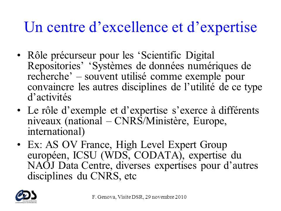 Un centre d'excellence et d'expertise