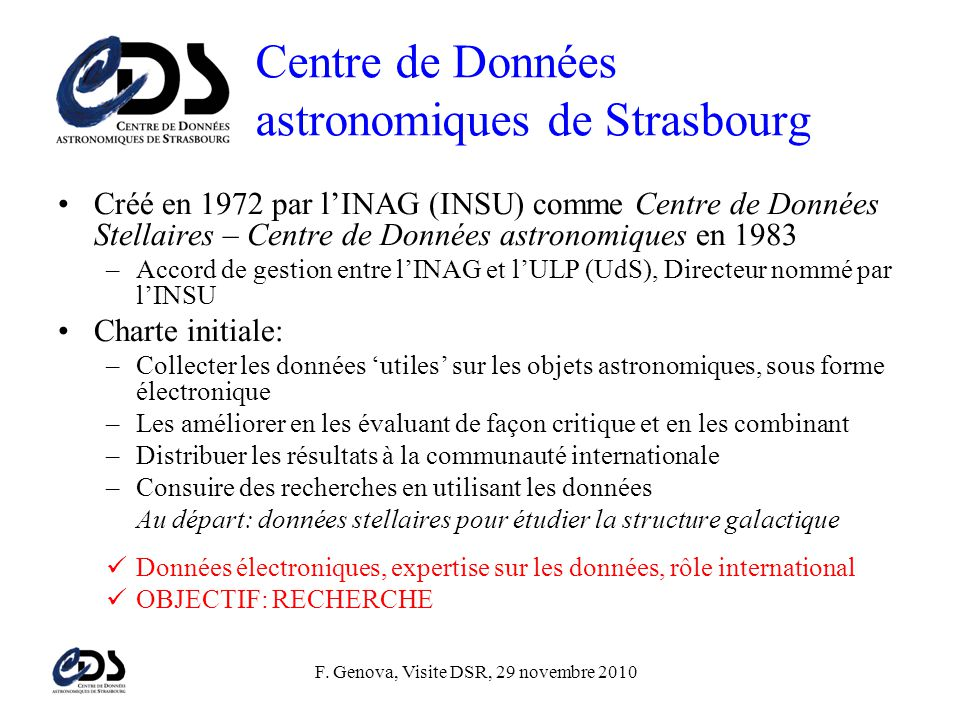 Centre de Données astronomiques de Strasbourg