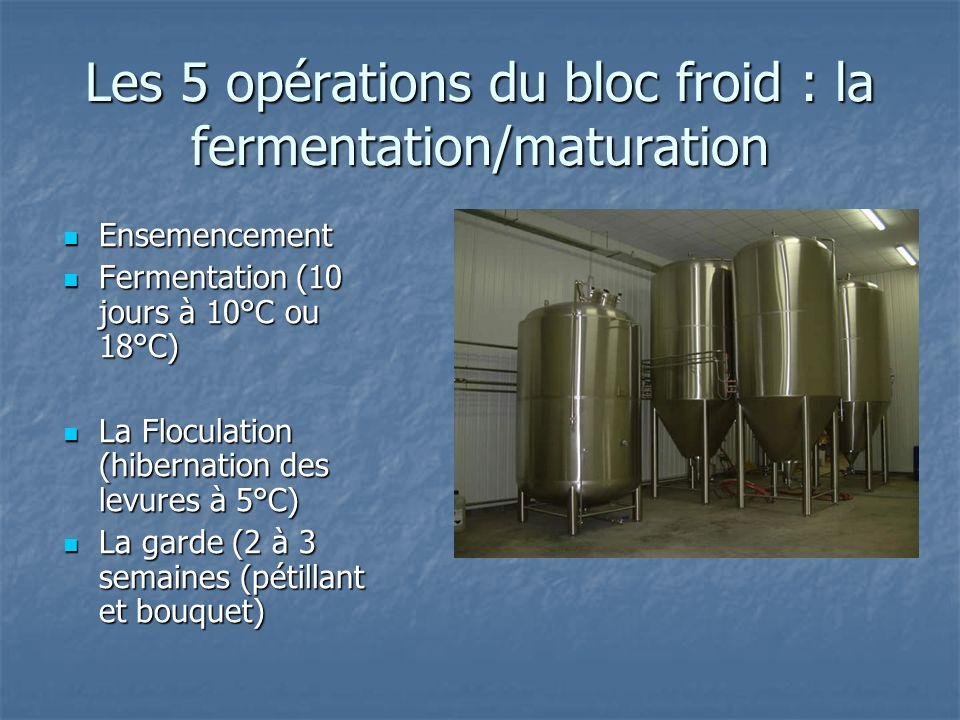 Les 5 opérations du bloc froid : la fermentation/maturation