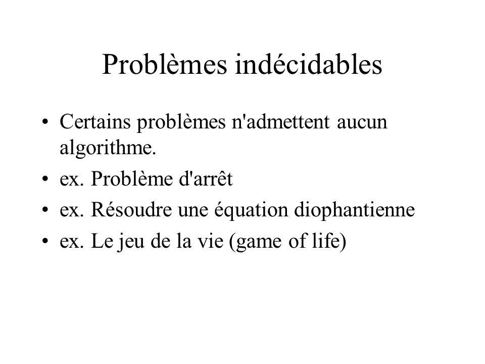 Problèmes indécidables