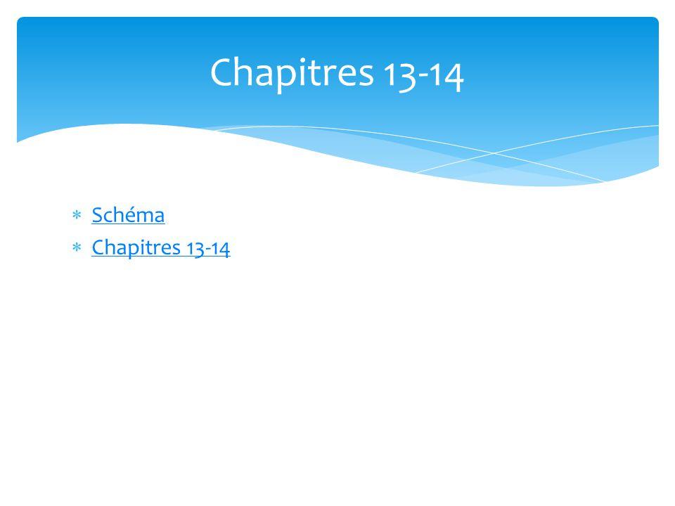 Chapitres 13-14 Schéma Chapitres 13-14
