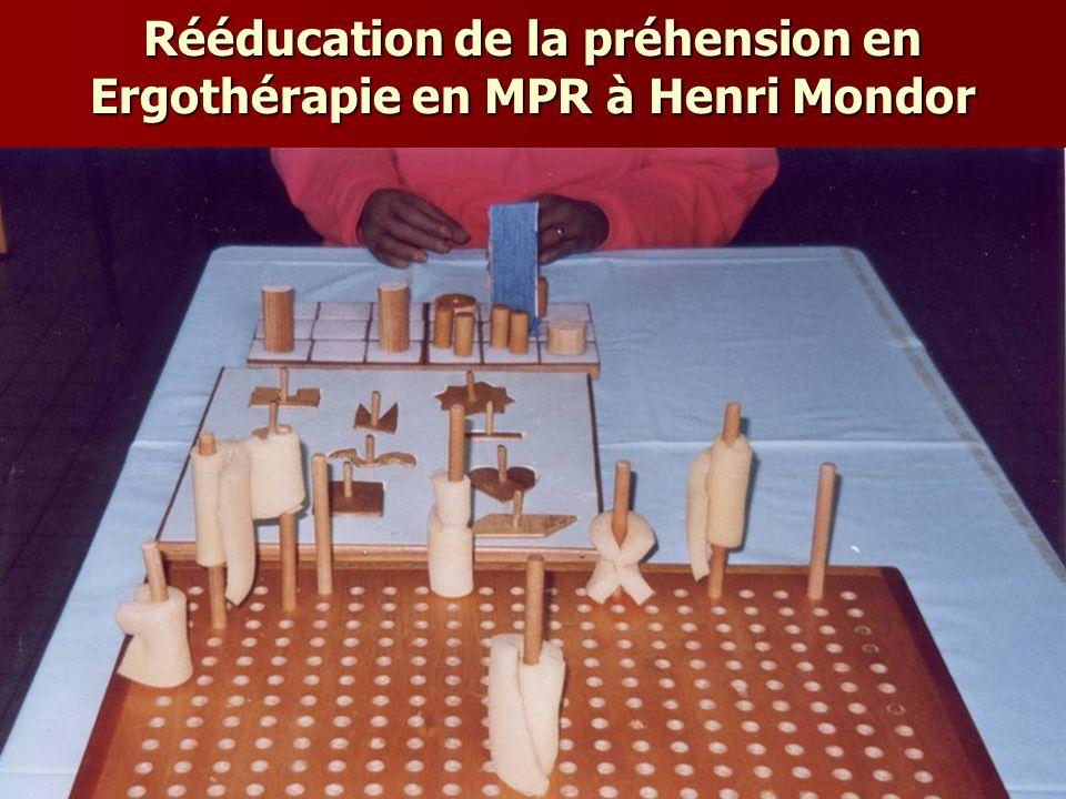 Rééducation de la préhension en Ergothérapie en MPR à Henri Mondor