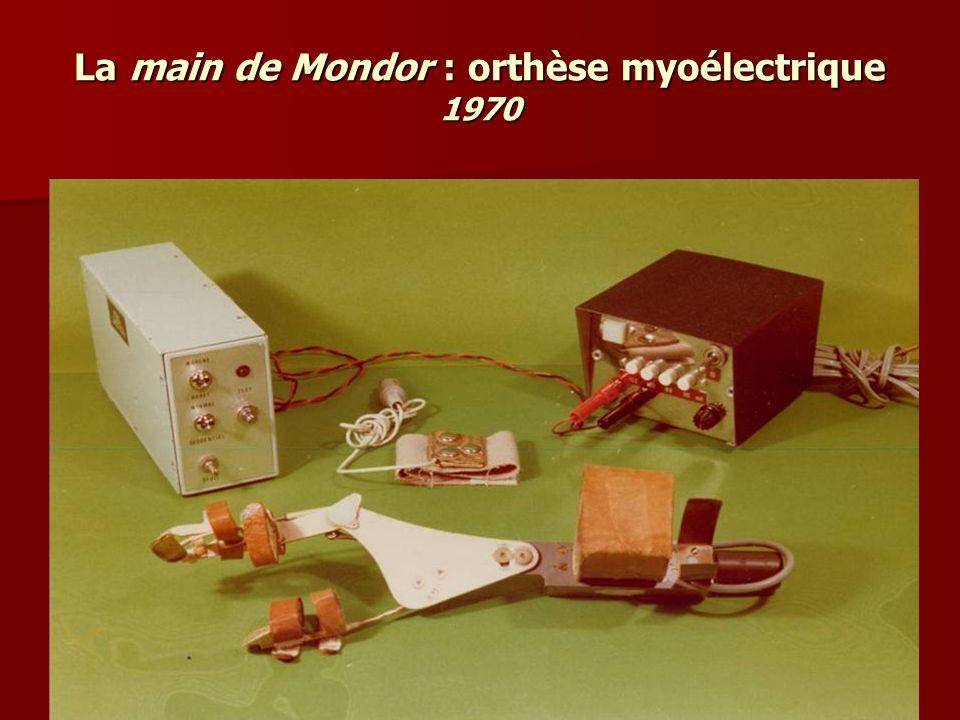 La main de Mondor : orthèse myoélectrique 1970