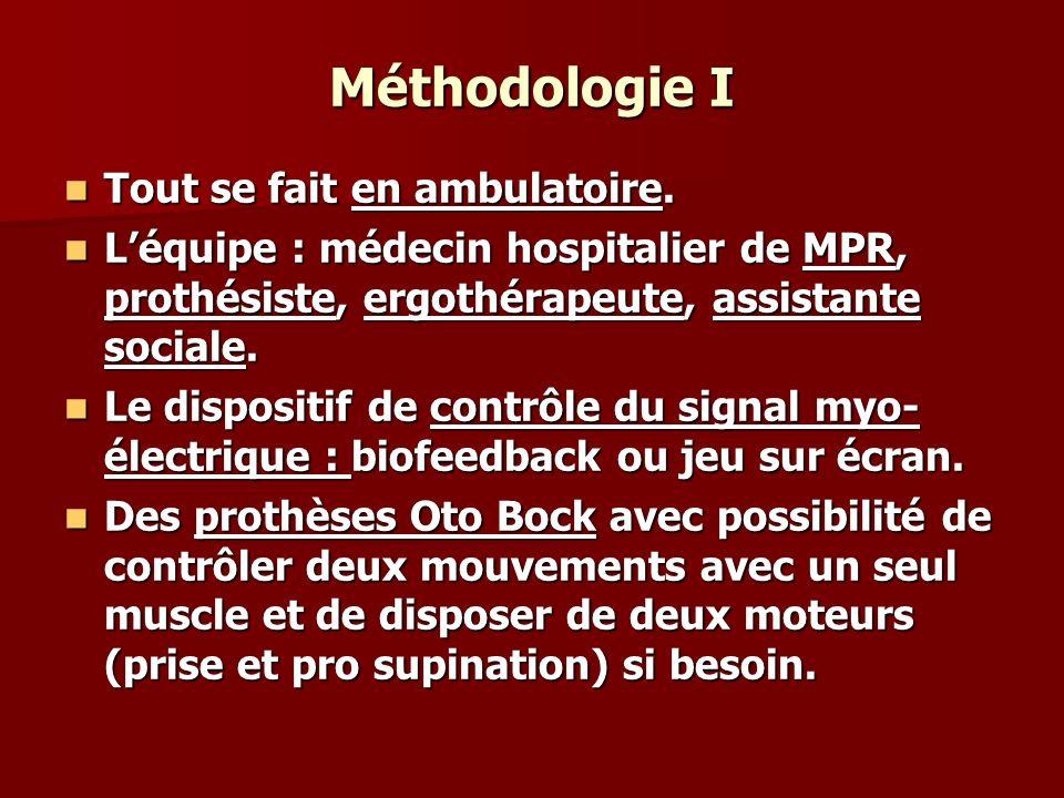 Méthodologie I Tout se fait en ambulatoire.