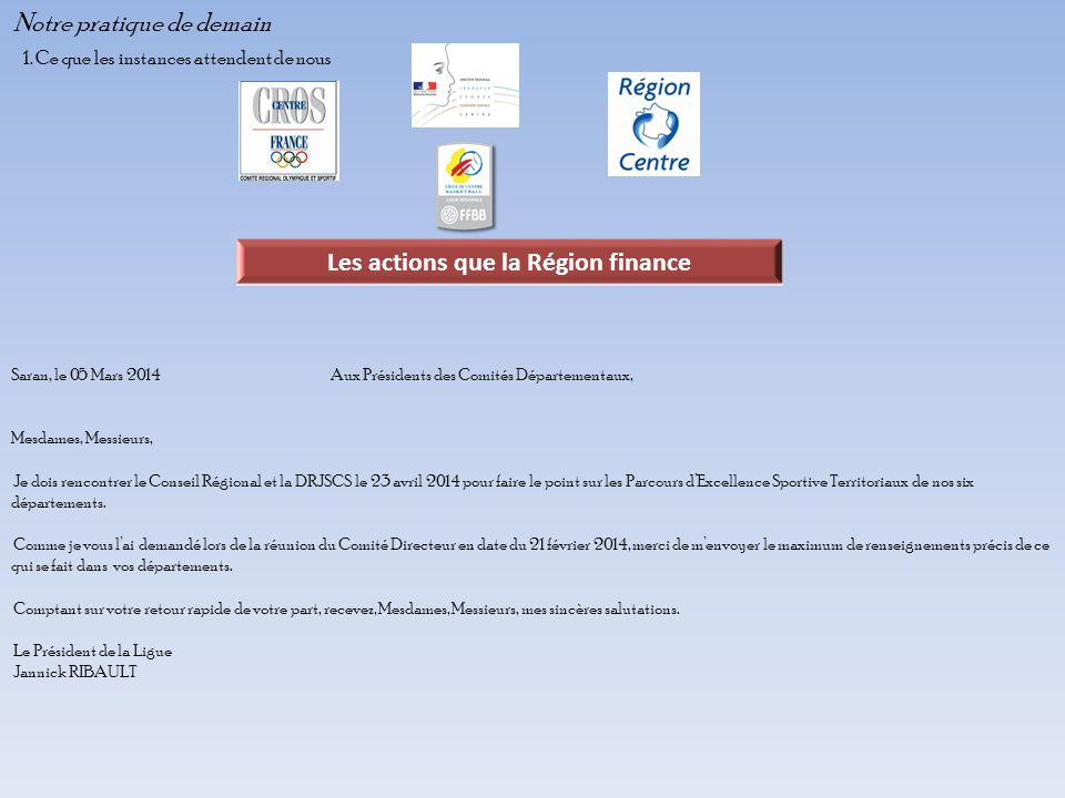 Les actions que la Région finance