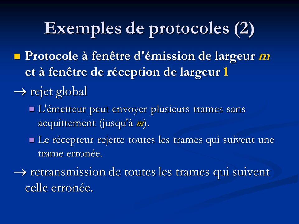 Exemples de protocoles (2)