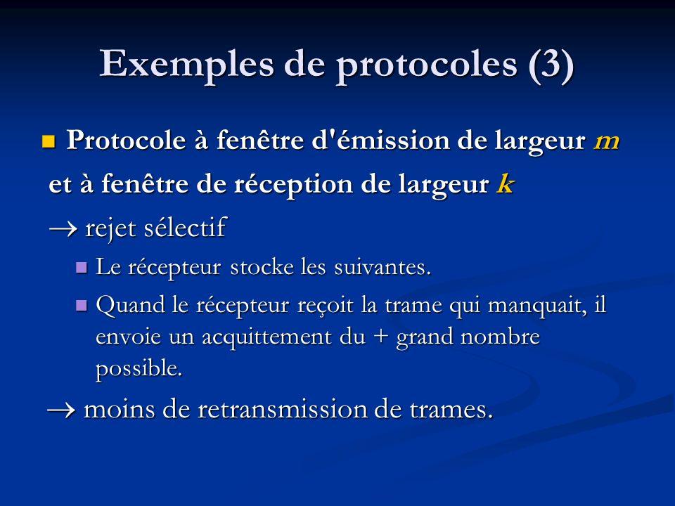 Exemples de protocoles (3)