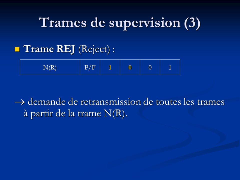 Trames de supervision (3)