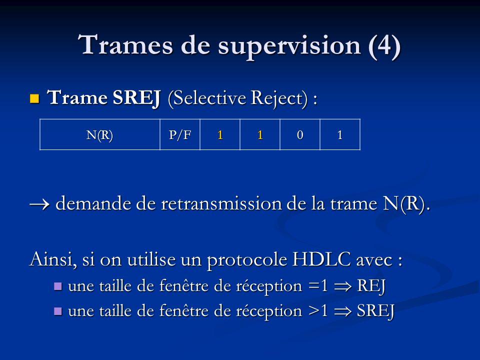 Trames de supervision (4)