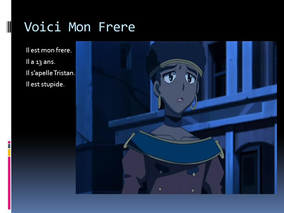Voici Mon Frere Il est mon frere. Il a 13 ans. Il s'apelle Tristan.