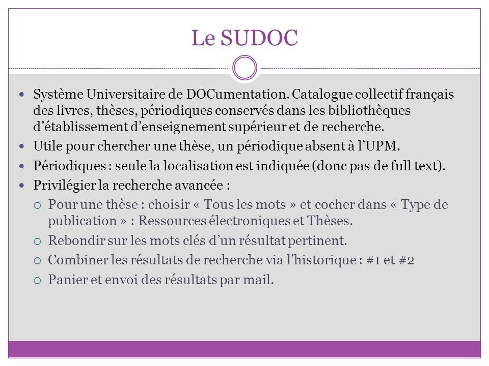 Le SUDOC