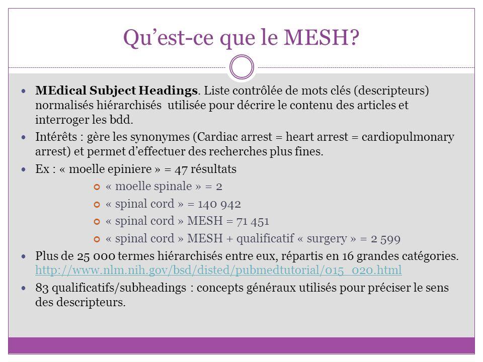 Qu'est-ce que le MESH