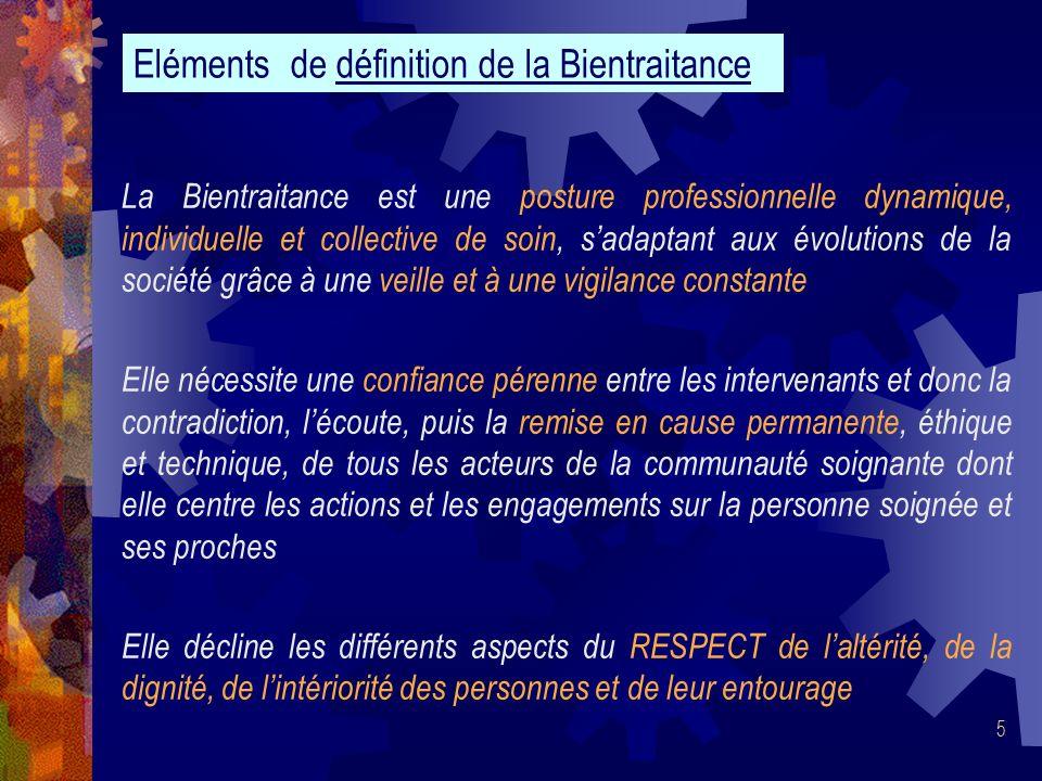 Eléments de définition de la Bientraitance