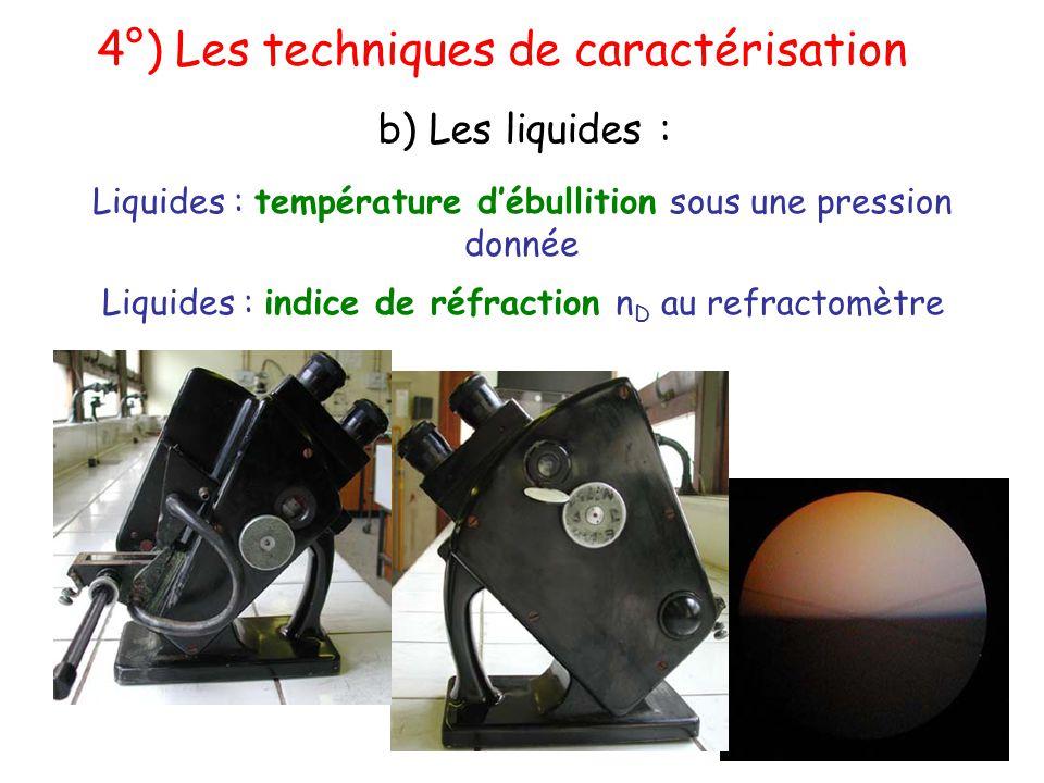 4°) Les techniques de caractérisation