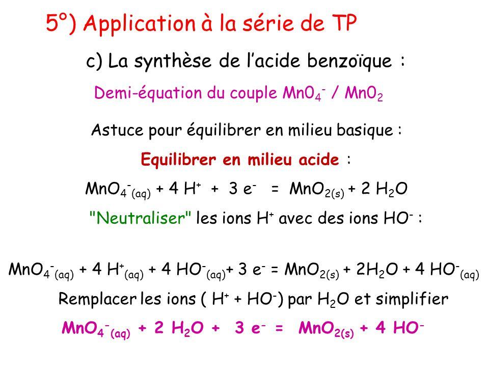 MnO4-(aq) + 2 H2O + 3 e- = MnO2(s) + 4 HO-