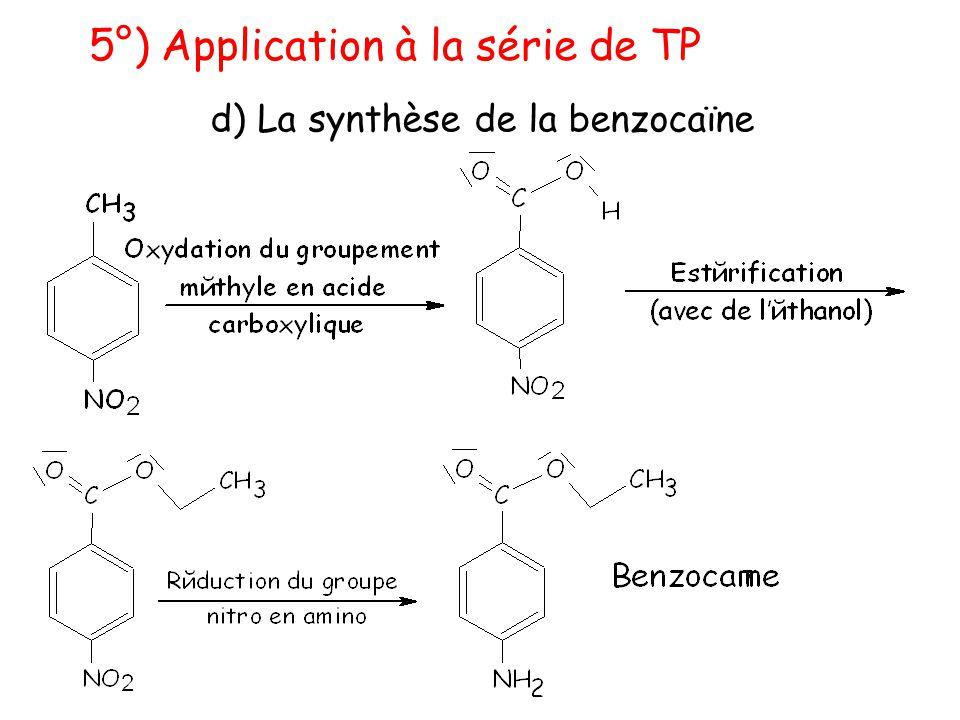 d) La synthèse de la benzocaïne