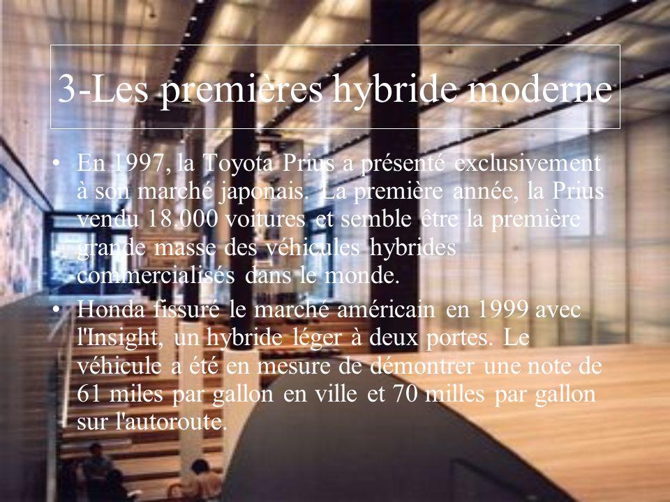 3-Les premières hybride moderne