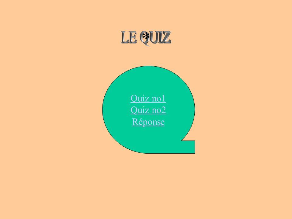 * LE QUIZ Quiz no1 Quiz no2 Réponse