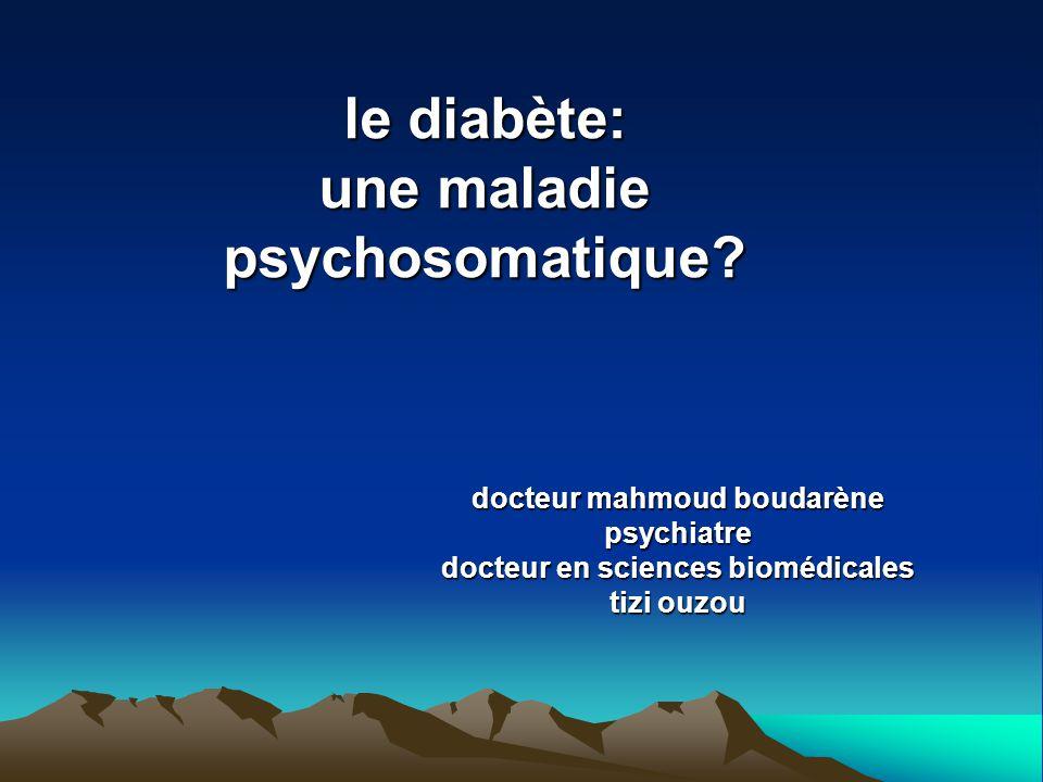 le diabète: une maladie psychosomatique