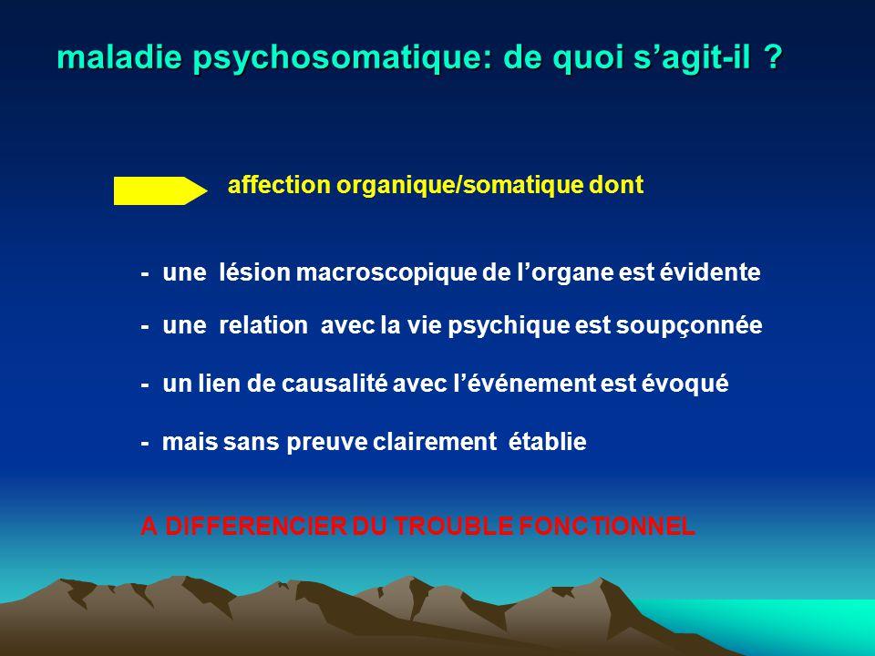maladie psychosomatique: de quoi s'agit-il