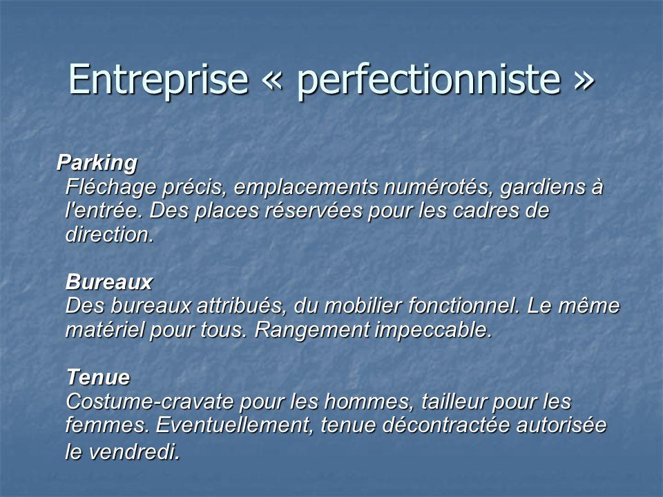 Entreprise « perfectionniste »