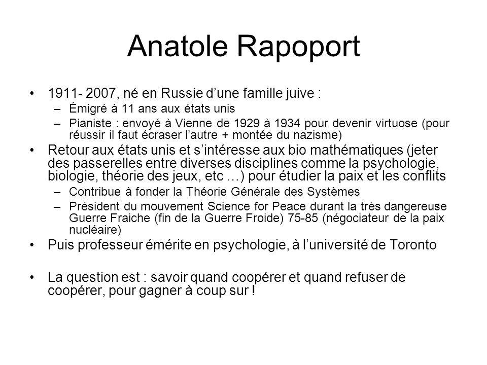 Anatole Rapoport 1911- 2007, né en Russie d'une famille juive :